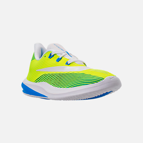 Three Quarter view of Kids' Grade School Nike Future Speed Running Shoes