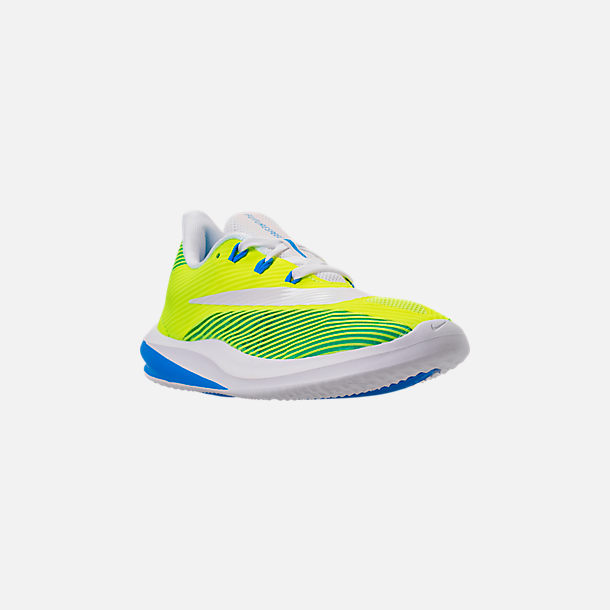 Three Quarter view of Big Kids' Nike Future Speed Running Shoes