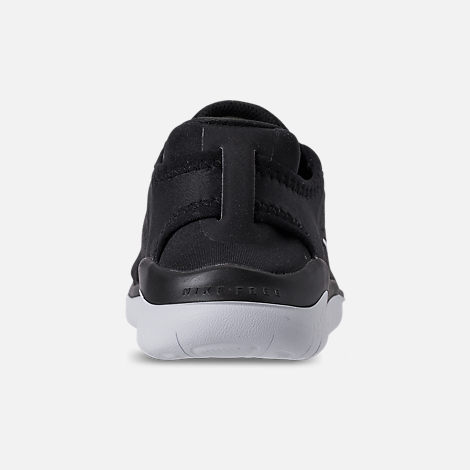 Back view of Boys' Grade School Nike Free RN 2018 Running Shoes in Black/White