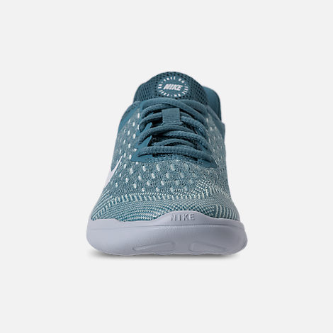 Front view of Girls' Preschool Nike Free RN 2018 Running Shoes in Noise/Aqua/White/Igloo/Pure Platinum