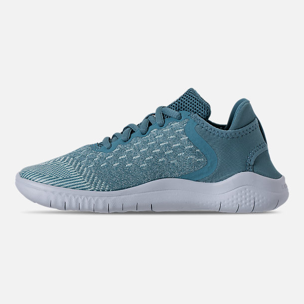 Left view of Girls' Preschool Nike Free RN 2018 Running Shoes in Noise/Aqua/White/Igloo/Pure Platinum