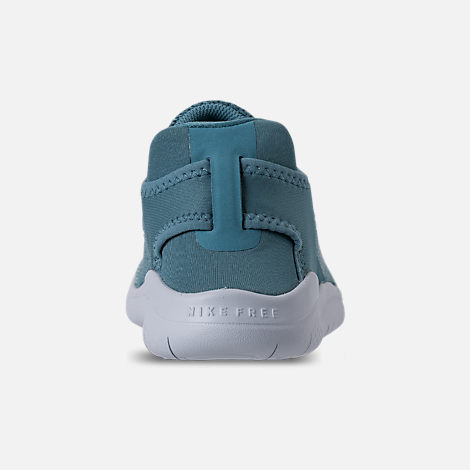 Back view of Girls' Preschool Nike Free RN 2018 Running Shoes in Noise/Aqua/White/Igloo/Pure Platinum