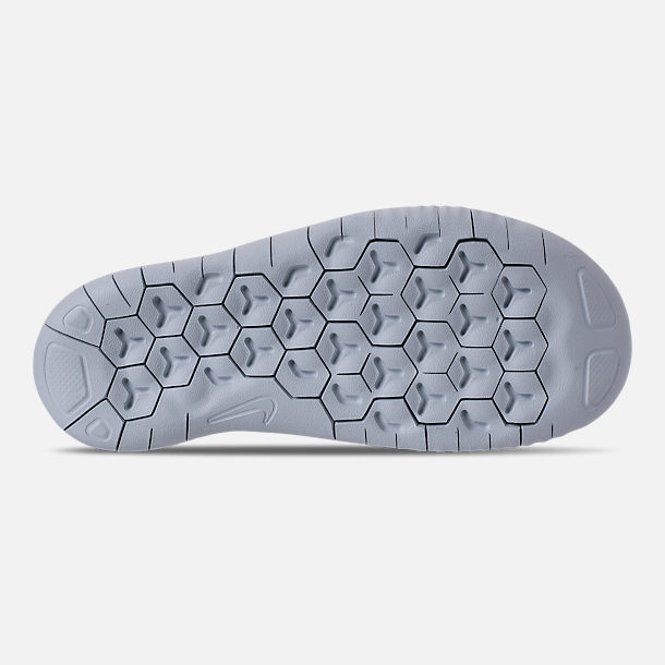 Bottom view of Girls' Preschool Nike Free RN 2018 Running Shoes in Noise/Aqua/White/Igloo/Pure Platinum