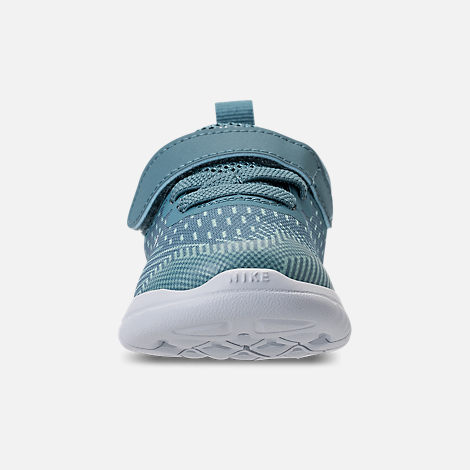 Front view of Girls' Toddler Nike Free RN 2018 Running Shoes in Noise/Aqua/White/Igloo/Pure Platinum