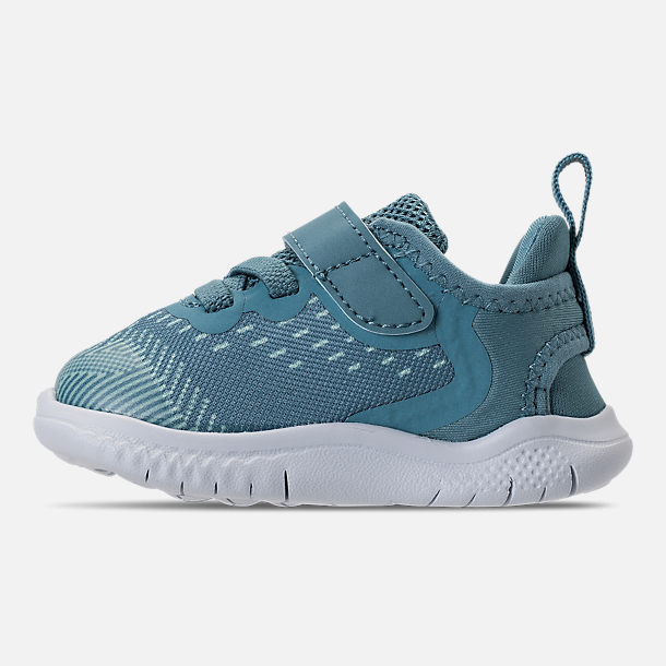 Left view of Girls' Toddler Nike Free RN 2018 Running Shoes in Noise/Aqua/White/Igloo/Pure Platinum