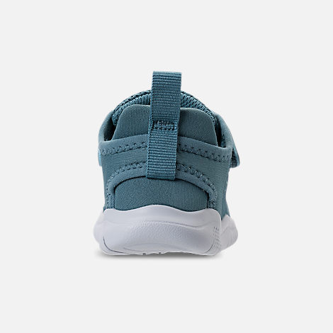 Back view of Girls' Toddler Nike Free RN 2018 Running Shoes in Noise/Aqua/White/Igloo/Pure Platinum