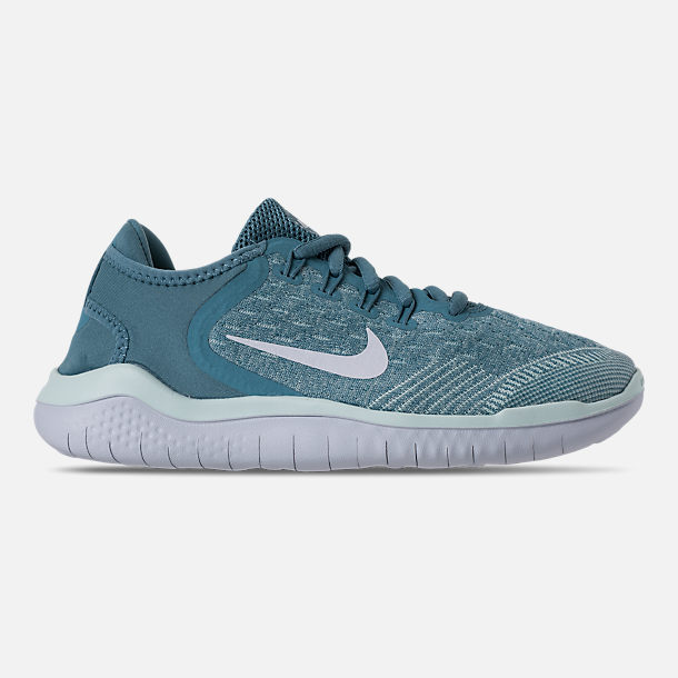 Right view of Girls' Grade School Nike Free RN 2018 Running Shoes in Noise Aqua/White/Igloo/Pure Platinum