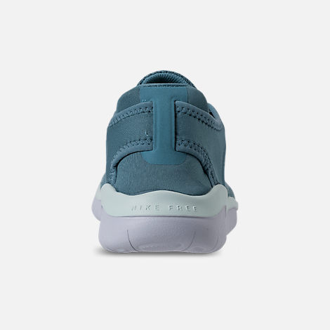 Back view of Girls' Grade School Nike Free RN 2018 Running Shoes in Noise Aqua/White/Igloo/Pure Platinum