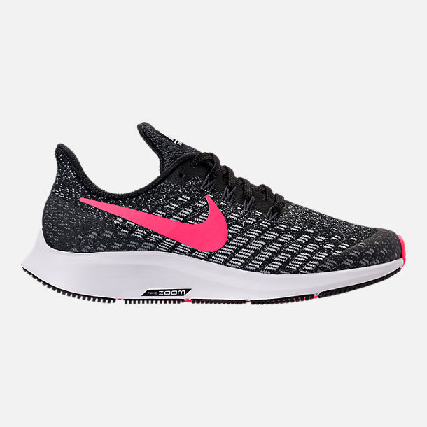 Right view of Girls' Big Kids' Nike Air Zoom Pegasus 35 Running Shoes in Black/Racer Pink/White/Anthracite
