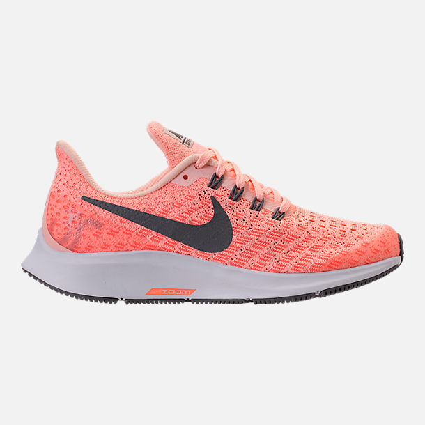 Right view of Girls' Grade School Nike Air Zoom Pegasus 35 Running Shoes in Crimson Tint/Gunsmoke/Crimson Pulse