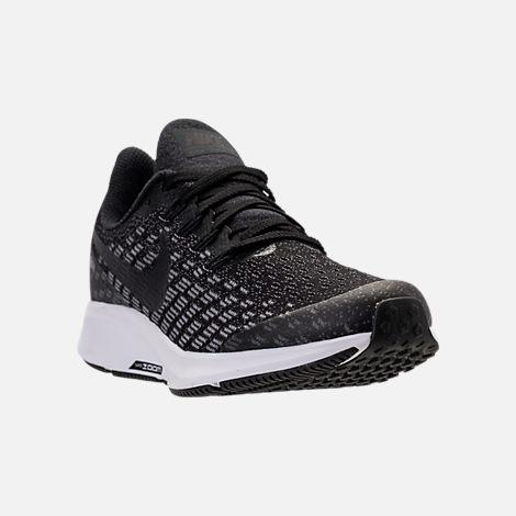 570357e78c0 Three Quarter view of Big Kids  Nike Air Zoom Pegasus 35 Running Shoes in  Black