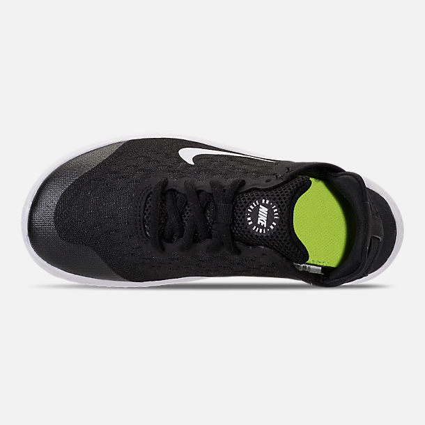Top view of Boys' Little Kids' Nike Free RN 2018 Running Shoes in Black/White
