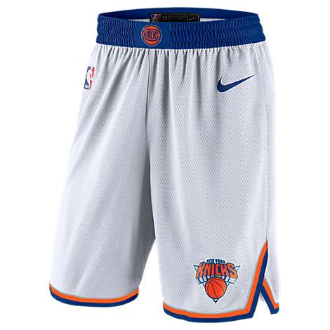 MEN'S NEW YORK KNICKS NBA ASSOCIATION EDITION SWINGMAN BASKETBALL SHORTS, WHITE