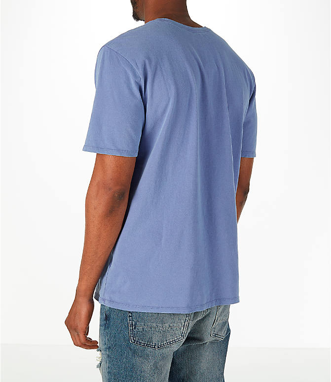 Back Left view of Men's Nike Sportswear Wash Pack T-Shirt in Purple