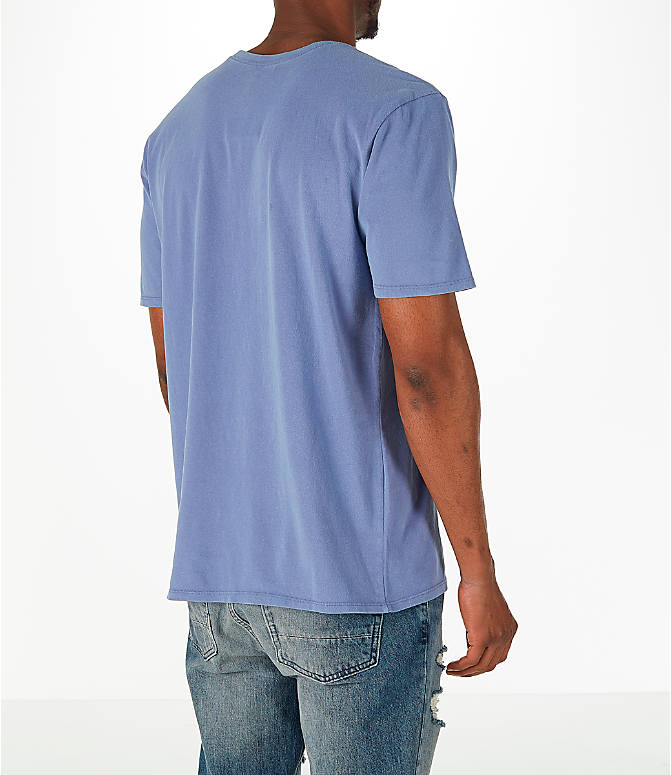 Back Right view of Men's Nike Sportswear Wash Pack T-Shirt in Purple