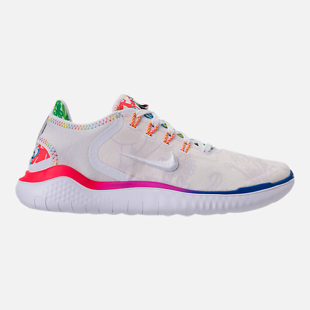 1a3c33b2c524b Right view of Men s Nike Free RN 2018 T-Shirt Running Shoes in White