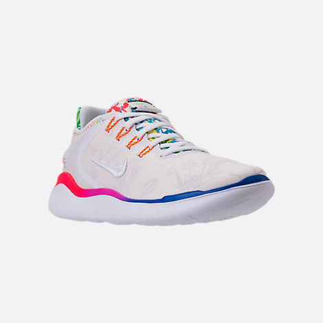 eb4d3315a475f Three Quarter view of Men s Nike Free RN 2018 T-Shirt Running Shoes in White