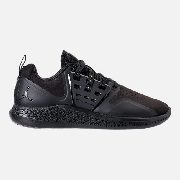 Right view of Boys' Grade School Jordan Grind Running Shoes in Black/Anthracite
