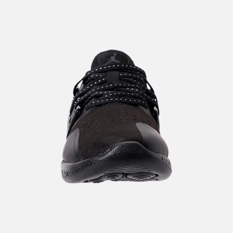 Front view of Boys' Grade School Jordan Grind Running Shoes in Black/Anthracite