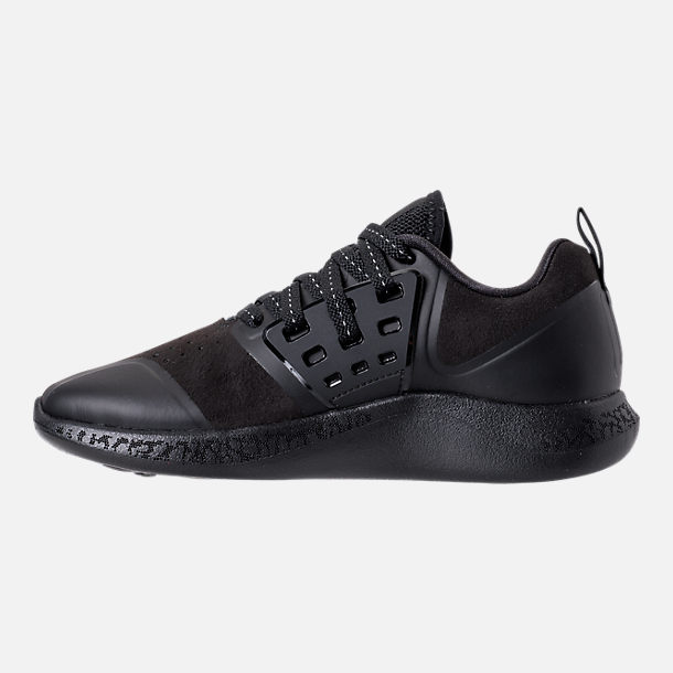 Left view of Boys' Grade School Jordan Grind Running Shoes in Black/Anthracite