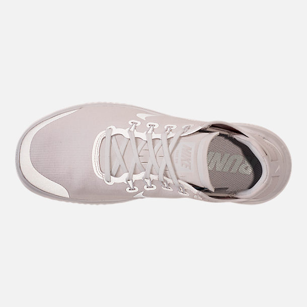 Top view of Men's Nike Free RN 2018 Sun Running Shoes in Vast Grey/Summit White