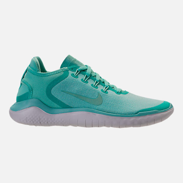 Right view of Women's Nike Free RN 2018 Running Shoes in Island Green/Igloo/Vast Grey