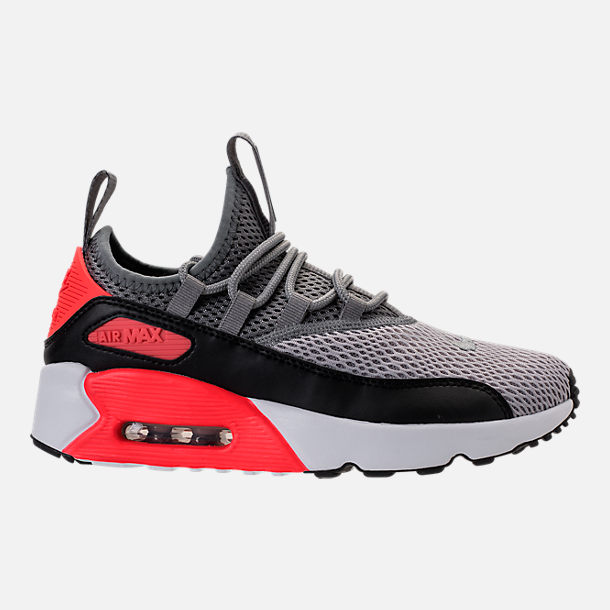 Right view of Boys' Grade School Nike Air Max 90 Ultra 2.0 Ease Casual Shoes in Wolf Grey/Cool Grey/Black/Bright Crimson