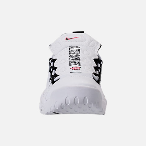 Front view of Kids' Grade School Nike Air More Money Basketball Shoes in  White/