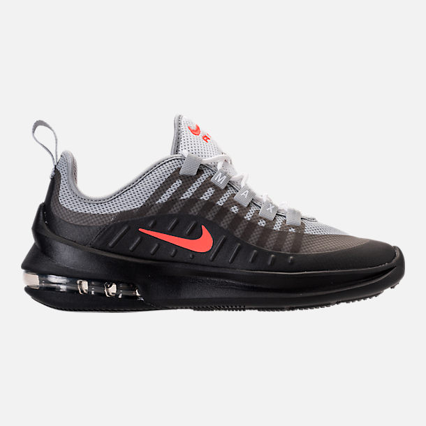 Right view of Kids' Grade School Nike Air Max Axis Running Shoes in Wolf Grey/Total Crimson/Black/Anthracite