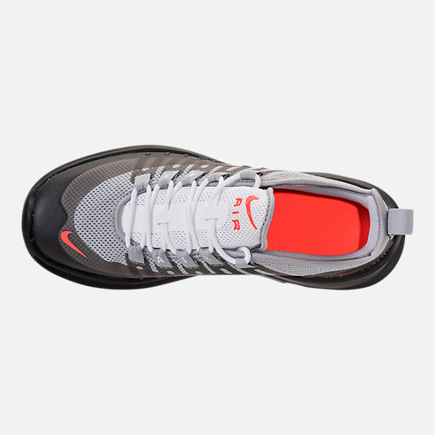 Top view of Kids' Grade School Nike Air Max Axis Running Shoes in Wolf Grey/Total Crimson/Black/Anthracite