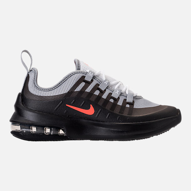 Right view of Boys' Preschool Nike Air Max Axis Running Shoes in Wolf Grey/Total Crimson/Black/Anthracite