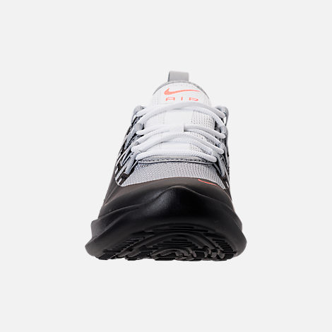 Front view of Boys' Preschool Nike Air Max Axis Running Shoes in Wolf Grey/Total Crimson/Black/Anthracite