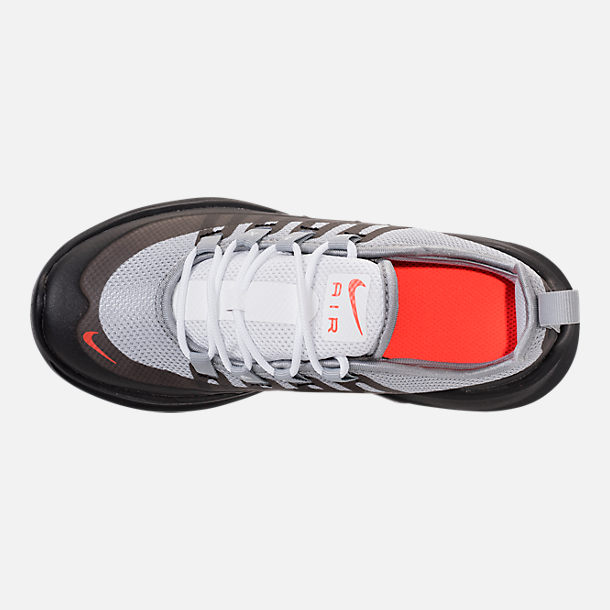 Top view of Boys' Preschool Nike Air Max Axis Running Shoes in Wolf Grey/Total Crimson/Black/Anthracite