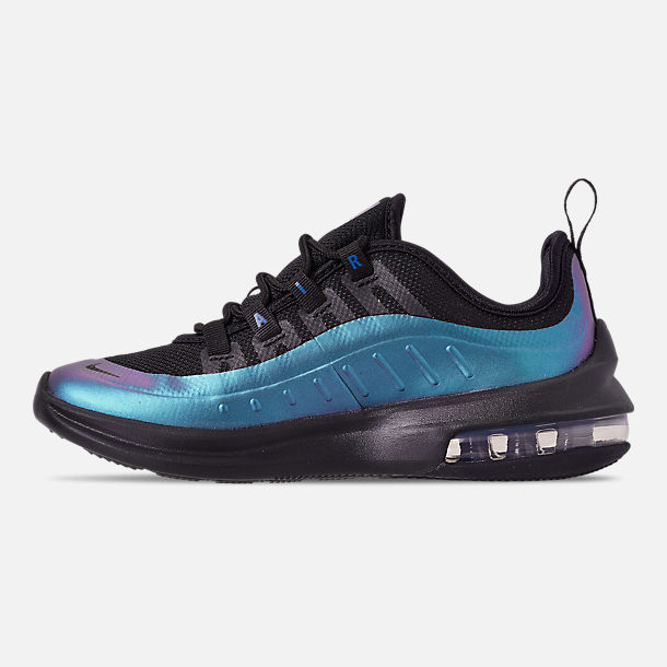 Left view of Little Kids' Nike Air Max Axis Casual Shoes in Black/Black/Racer Blue