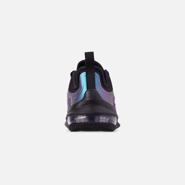 Back view of Little Kids' Nike Air Max Axis Casual Shoes in Black/Black/Racer Blue