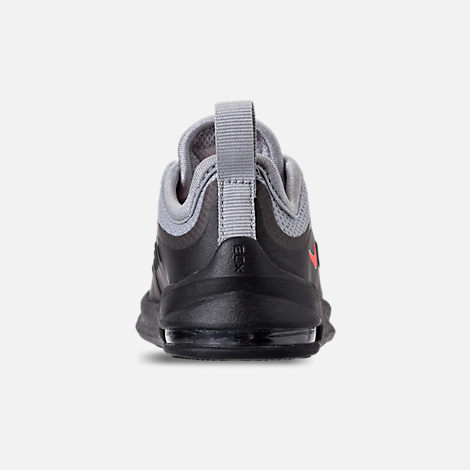 Back view of Boys' Toddler Nike Air Max Axis Casual Shoes in Wolf Grey/Total Crimson/Black/Anthracite