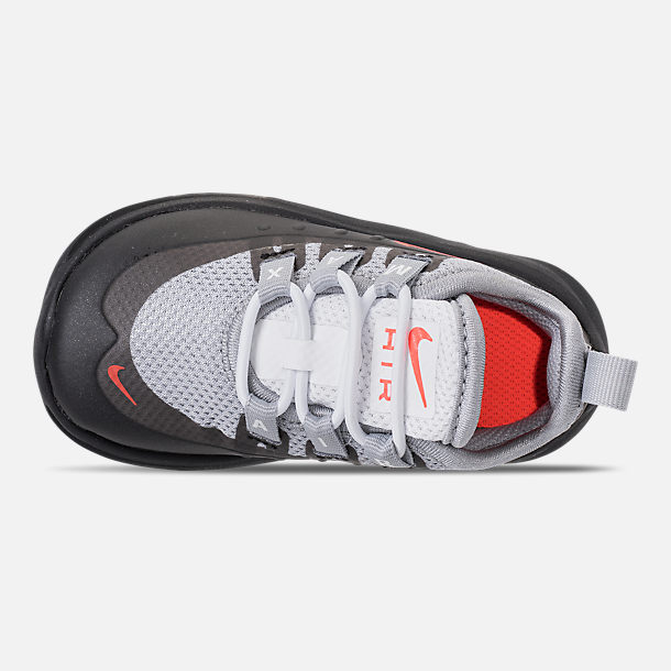 Top view of Boys' Toddler Nike Air Max Axis Casual Shoes in Wolf Grey/Total Crimson/Black/Anthracite