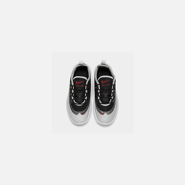 Back view of Kids' Toddler Nike Air Max Axis Casual Shoes in Black/Sport Red/Metallic Platinum/White