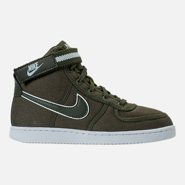 Right view of Boys' Preschool Nike Vandal High Supreme Casual Shoes in Cargo Khaki/White