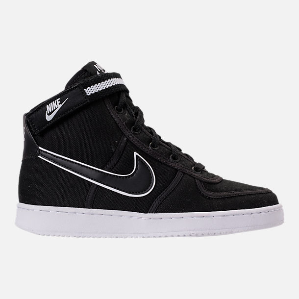 Right view of Boys' Grade School Nike Vandal High Supreme Casual Shoes in  Black/
