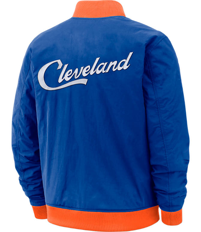 5a2cae852 Back view of Men s Nike Cleveland Cavaliers NBA Courtside Jacket in Rush  Blue