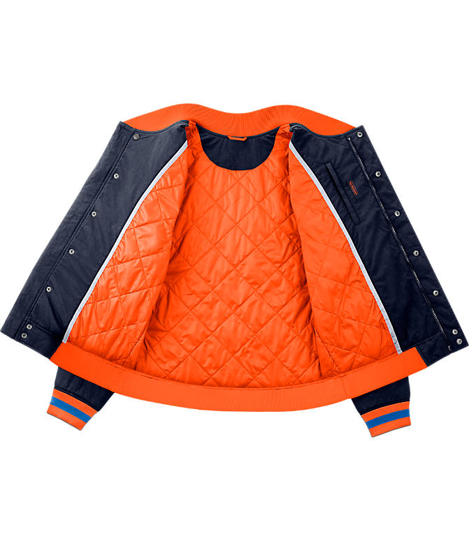 Product 3 view of Men's Nike New York Knicks NBA Courtside Jacket in Colleg Navy