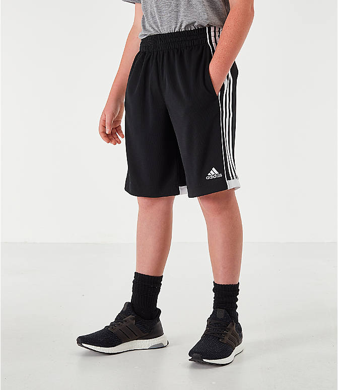 Front view of Boys' adidas Speed 18 Training Shorts in Black/White