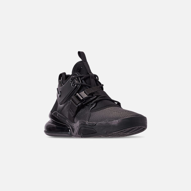 ec11547d37 Three Quarter view of Men's Nike Air Force 270 Off-Court Shoes in Triple  Black