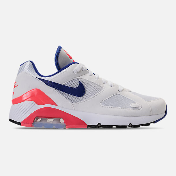 Right view of Women's Nike Air Max 180 Casual Shoes in White/Solar Red/