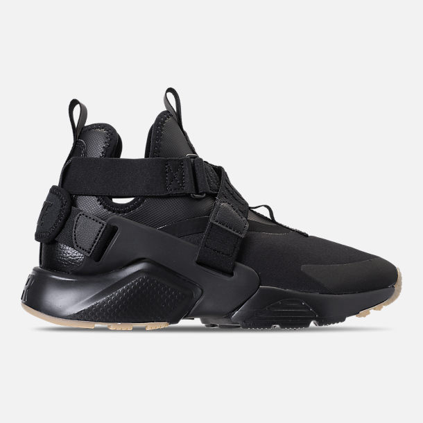 Right view of Nike Air Huarache City Casual Shoes (Check Description for Sizing Information) in Black/Dark Grey/Gum Light Brown