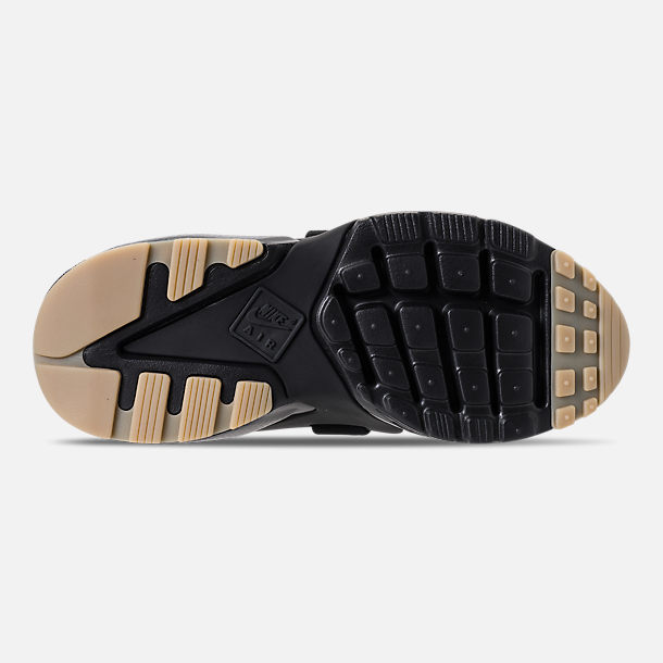 Bottom view of Nike Air Huarache City Casual Shoes (Check Description for Sizing Information) in Black/Dark Grey/Gum Light Brown