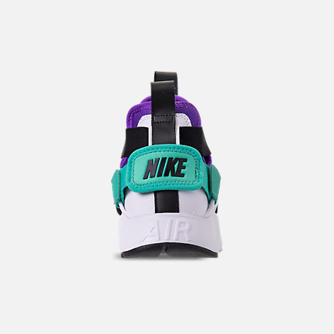 Back view of Women's Nike Air Huarache City Casual Shoes in Wolf Grey/Fierce Purple/Hyper Jade