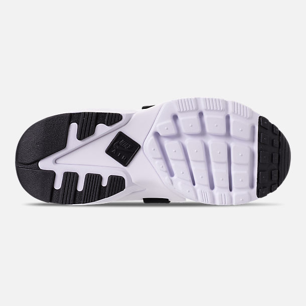 Bottom view of Women's Nike Air Huarache City Casual Shoes in Wolf Grey/Fierce Purple/Hyper Jade