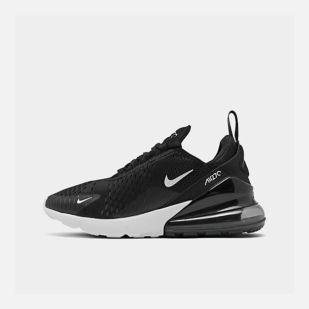 Simple Nike Air Max 270 Black White Anthracite Solar Red AH6789 001 Women's Men's Summer Running Shoes